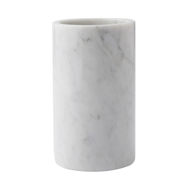 MARBLE UTENSIL POT WHITE