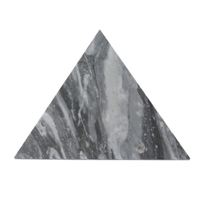 MARBLE TRIANGLE TRIVET GREY