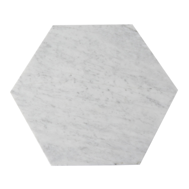 MARBLE HEXAGON TRIVET WHITE