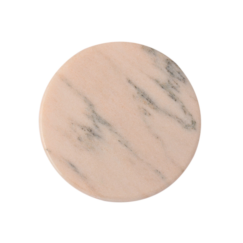 MARBLE ROUND COASTER PINK