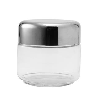 GLASS STORAGE JAR WITH STAINLESS STEEL LID 50CL