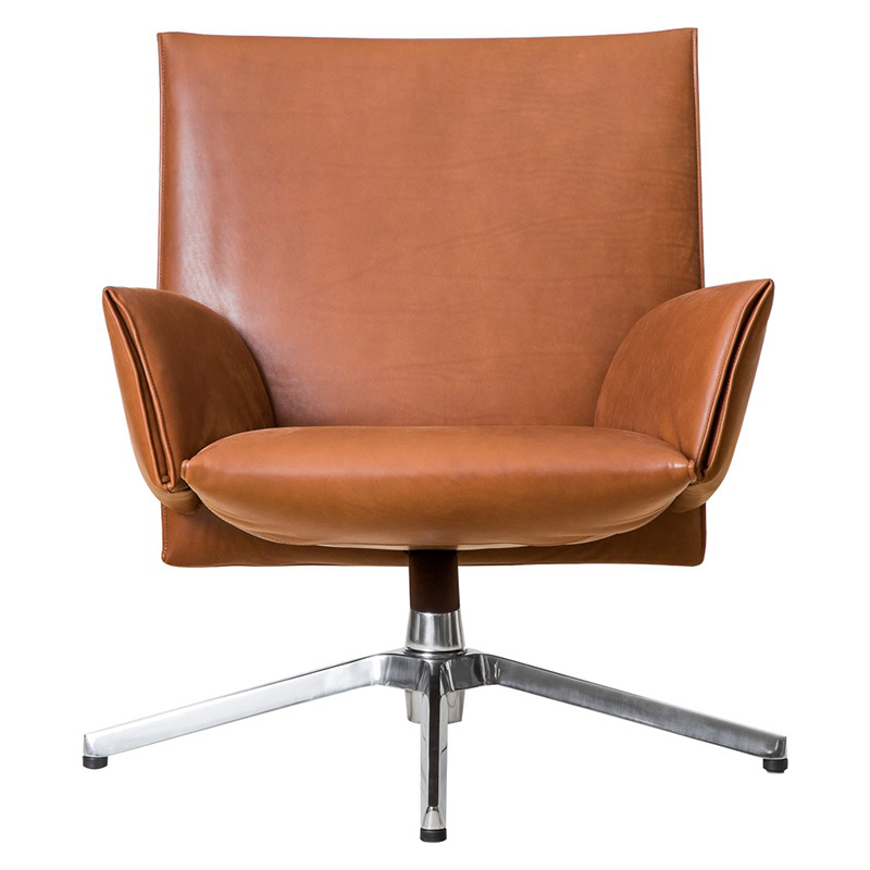 KNOLL PILOT SOFT LOW BACK VENEZIA LETHER
