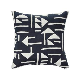 TRIANGLE TILE CUSHION COVER NAVY