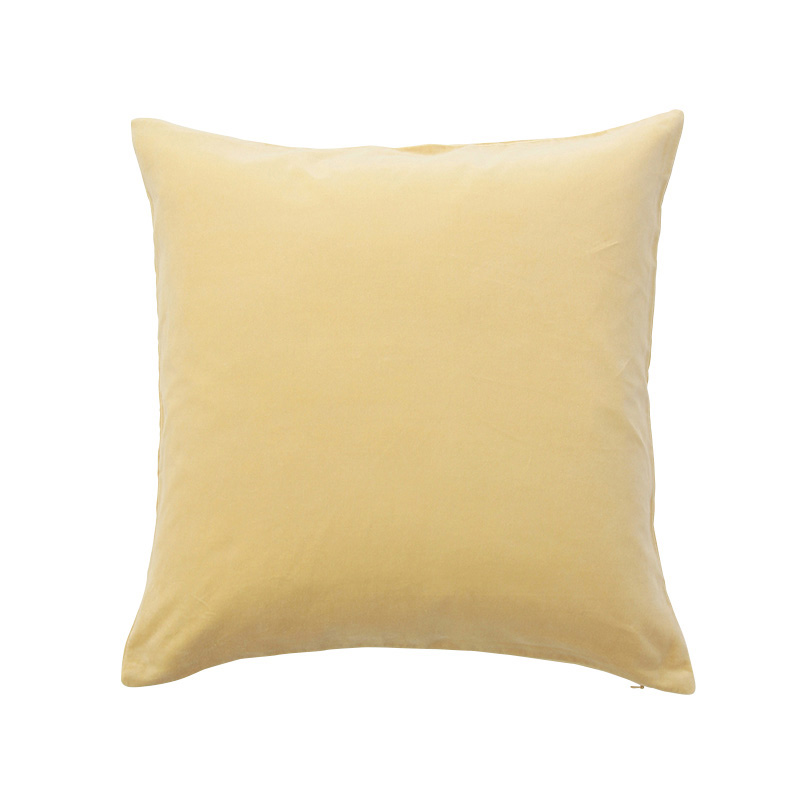 VELVET CUSHION COVER STRAW