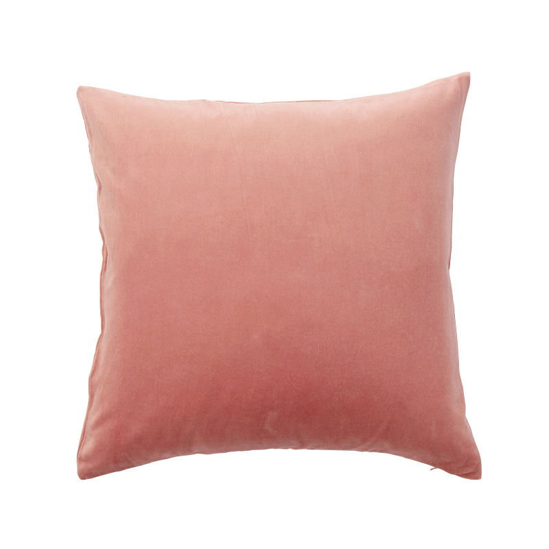 VELVET CUSHION COVER CORAL