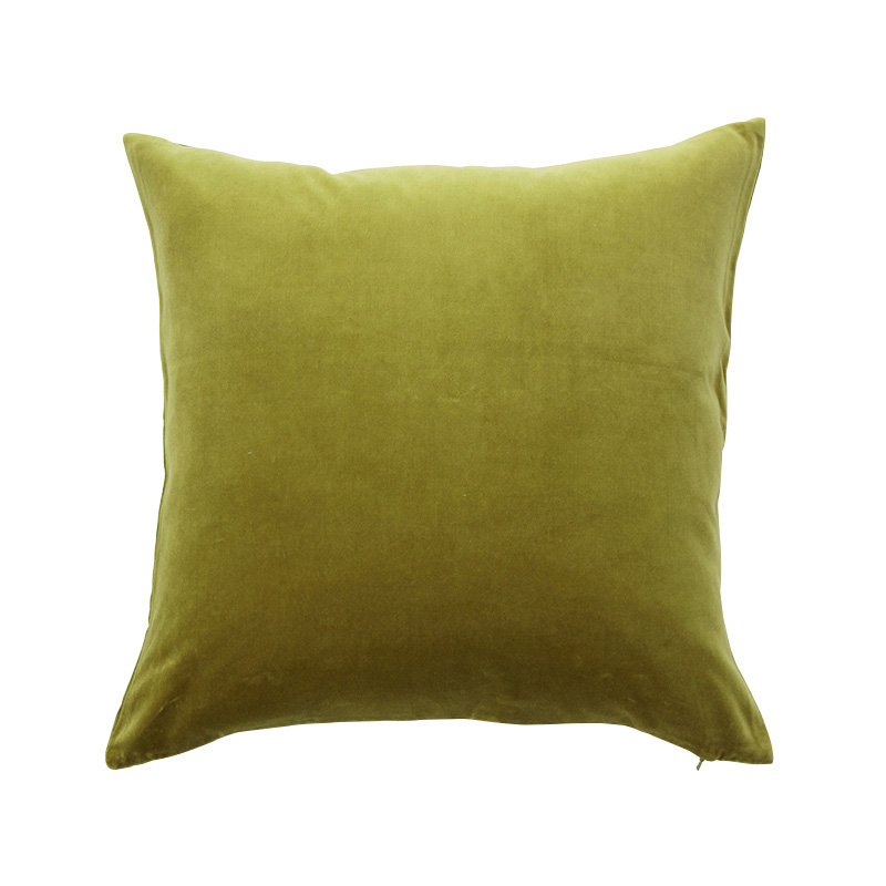 VELVET CUSHION COVER PALM LEAF