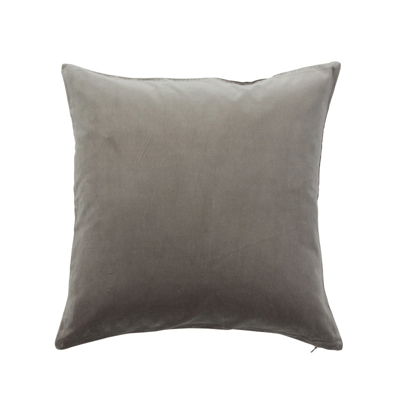 VELVET CUSHION COVER GREY