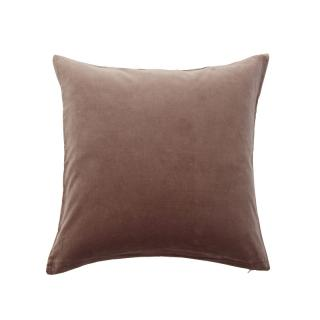 VELVET CUSHION COVER MINK