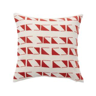 TRIANGLE TILE CUSHION COVER RED