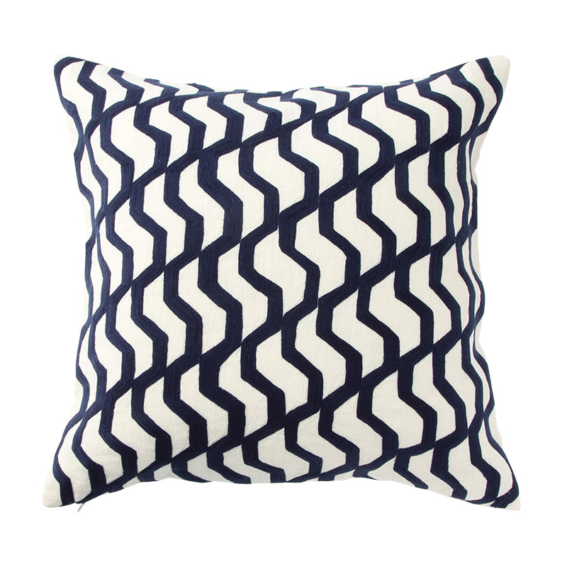 RIO TILE CUSHION COVER BLUE