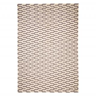 GEOMETRIC DHURRY RUG GREY