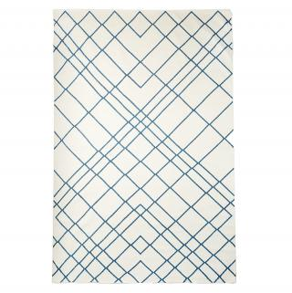 DIAMOND LINES COTTON DHURRIE RUG
