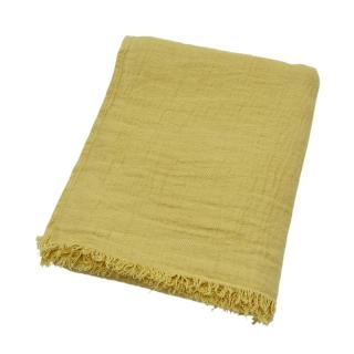 TWILL LINEN THROW QUINCE