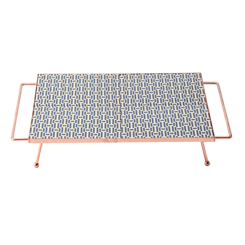 TILE TRAY COPPER PLATED HIGH SQUARE S