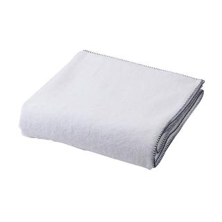 BLANKET STITCH BATH TOWEL NAVY