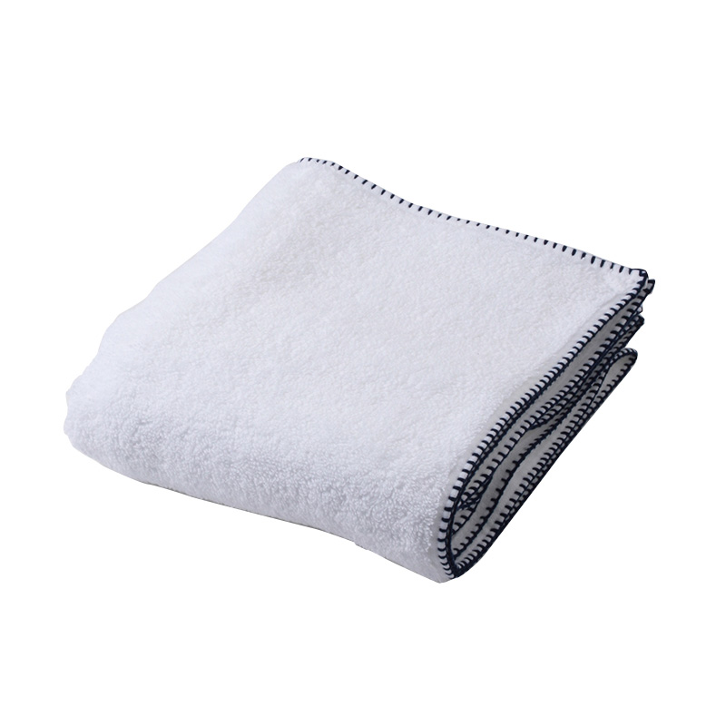 BLANKET STITCH HAND TOWEL NAVY