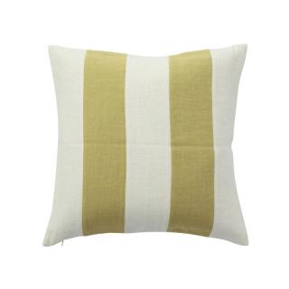 STRIPE CUSHION COVER CELERY × WHITE