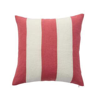STRIPE CUSHION COVER CORAL × WHITE