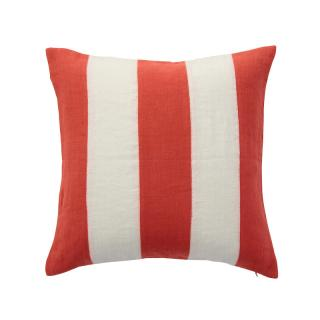 STRIPE CUSHION COVER TANGERINE × WHITE