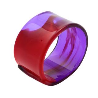 RESIN NAPKIN RING RED AND CLEAR VIOLET