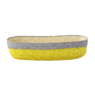BLOCK BASKET RECTANGLE  YELLOW / GREY / NATURAL