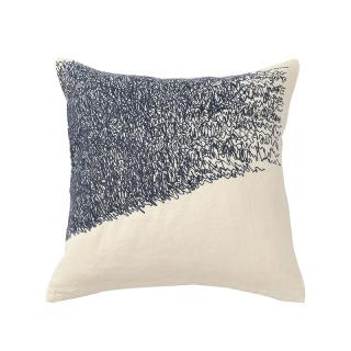 SCRIBBLE CUSHION COVER BLUE