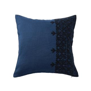 FEZ EMBROIDERED CUSHION COVER INDIGO