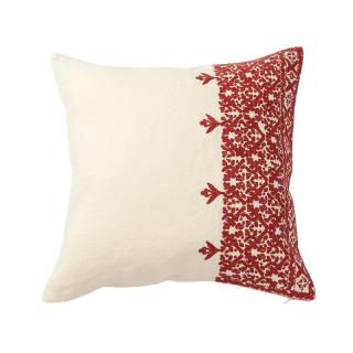 FEZ EMBROIDERED CUSHION COVER RASPBERRY