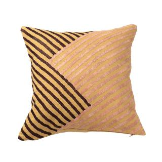 RAFFIA LINES CUSHION COVER SOFT OCHRE