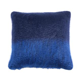 OMBRE MOHAIR CUSHION COVER NAVY / COBALT