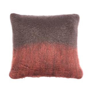 OMBRE MOHAIR CUSHION COVER ROSEWOOD