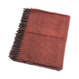 OMBRE MOHAIR THROW ROSEWOOD