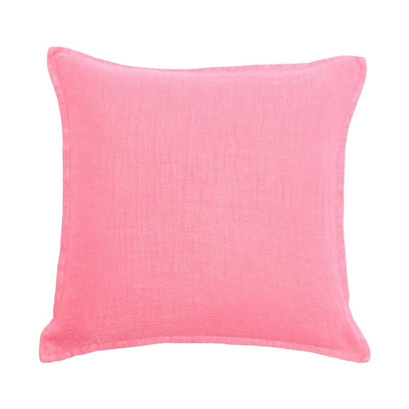 TWILL LINEN CUSHION COVER LIPSTICK