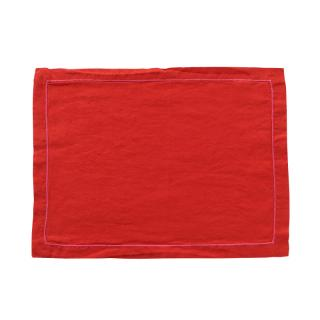 BABY OVERLOCK PLACEMAT TOMATO/PINK