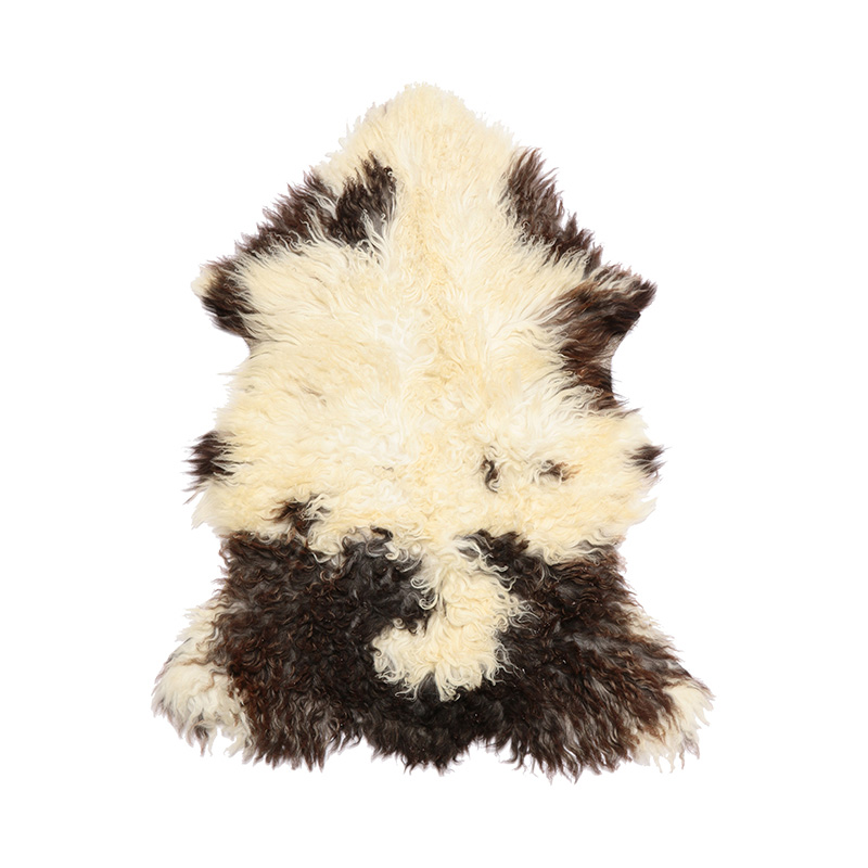 AUSTRIAN SHEPSKIN NATURAL SPOT BLACK / WHITE