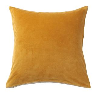 VELVET CUSHION COVER SAFFRON