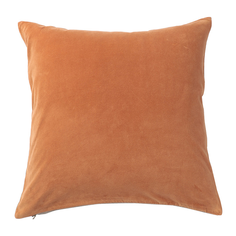 VELVET CUSHION COVER COPPER