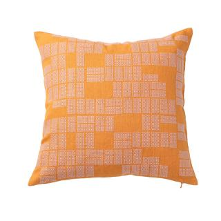 RECTANGLES CUSHION COVER MANDARIN