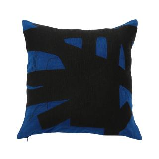 BRUSHSTROKE CUSHION COVER COBALT
