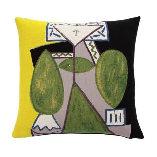 PICASSO WOMAN IN GREEN CUSHION COVER