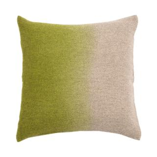 【CLEARANCE】 OMBRE WOVEN YAK CUSHION COVER CHARTREUSE