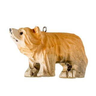 XMAS 16 CARVED WOOD ANIMAL (BEAR)