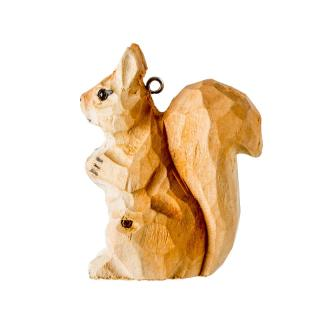 XMAS 16 CARVED WOOD ANIMAL (SQUIRREL)