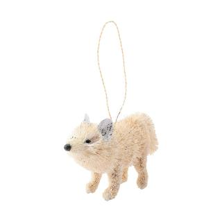 XMAS 16 WHITE BRISTLE FOX (STANDING)