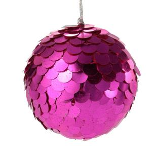 XMAS 16 SEQUIN BALL PINK