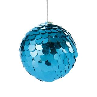 XMAS 16 SEQUIN BALL TURQUOISE