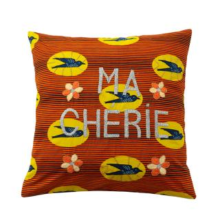 AFRICAN EMBROIDERED CC 45x45 MA CHERIE 01002