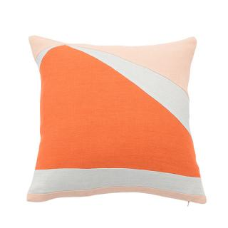 ABSTRACT SHARD CUSHION COVER TOMATO