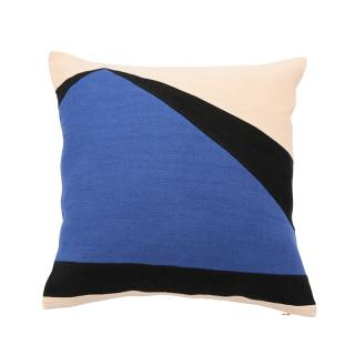 ABSTRACT SHARD CUSHION COVER COBALT