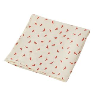 TRIANGLE BLOCK PRINT NAPKIN 47X47 RED